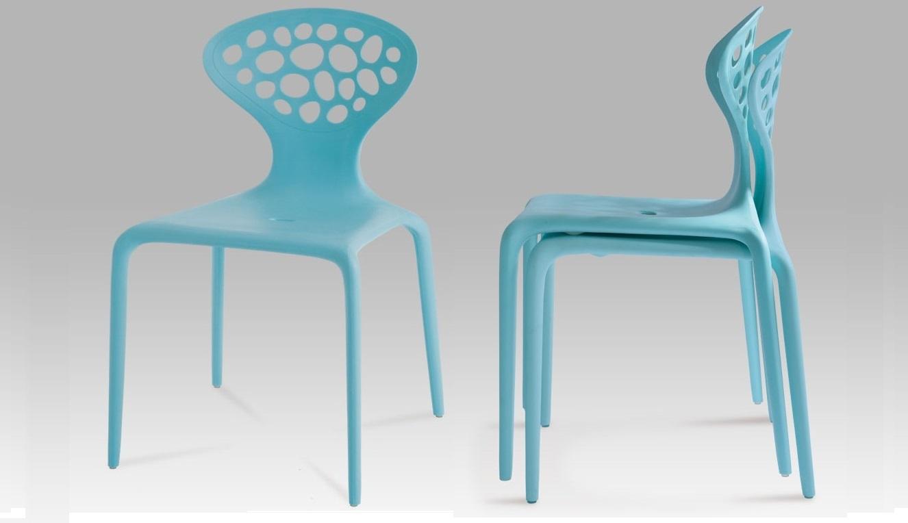 Originálna plastová stolička Ct-273 blu